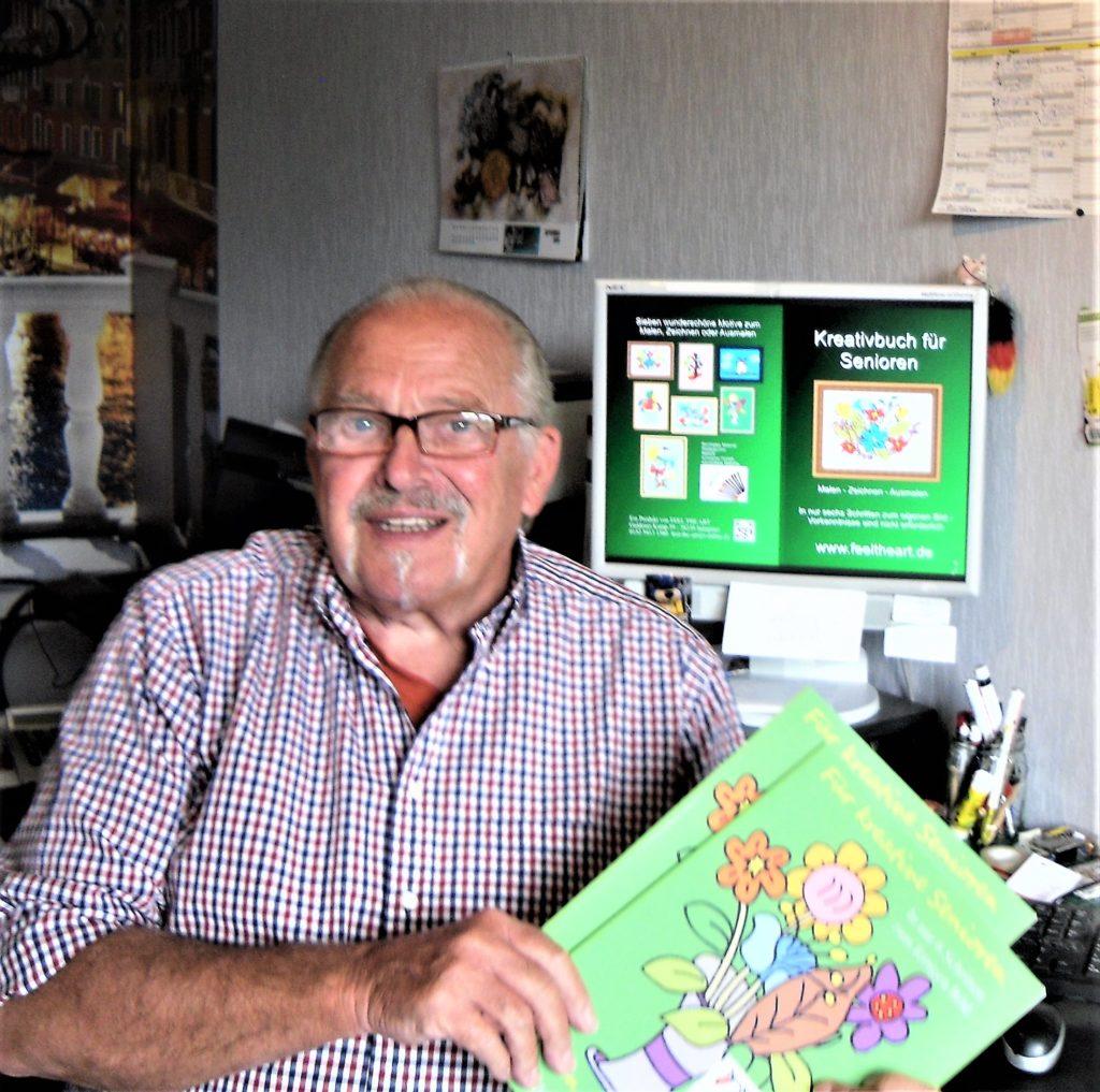 """Malen und Zeichnen für Menschen im höheren Alter ist mit dem """"Kreativbuch für Senioren"""" kein Problem"""